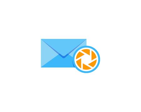 Lens Mail Icon Logo Design Element