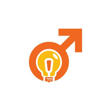 Innovation Male Man Logo Icon Design