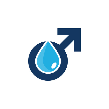 Liquid Male Man Logo Icon Design