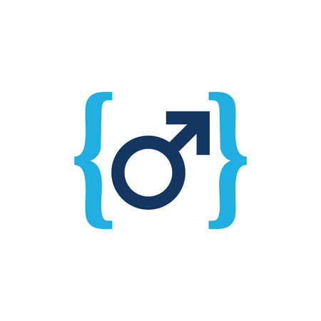 Code Male Man Logo Icon Design