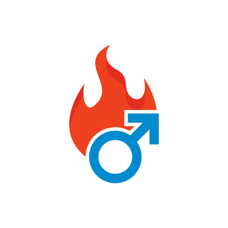 Burn Male Man Logo Icon Design
