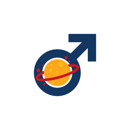 Planet Male Man Logo Icon Design