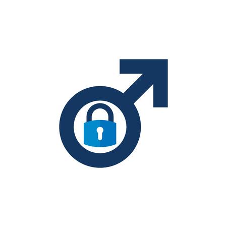 Security Male Man Logo Icon Design Illustration