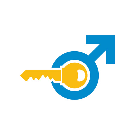 Key Male Man Logo Icon Design