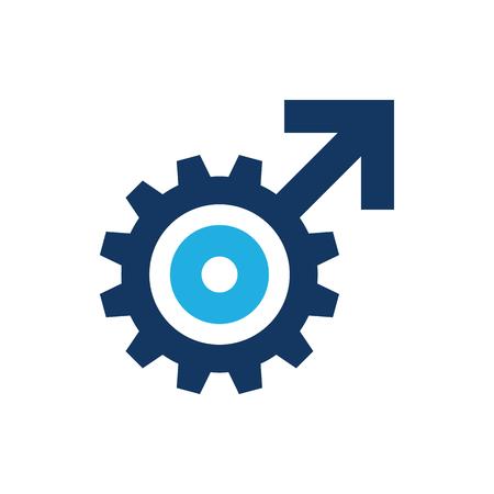 Wheel Male Man Logo Icon Design