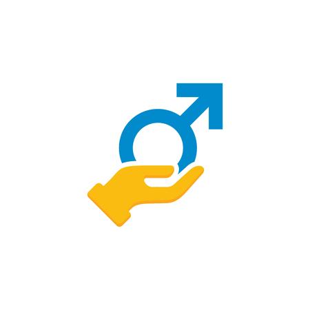 Care Male Man Logo Icon Design