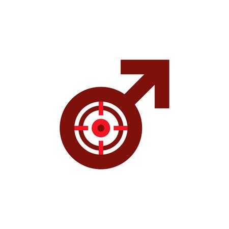 Target Male Man Logo Icon Design
