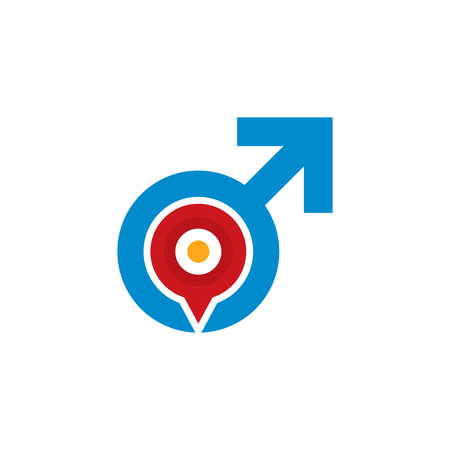 Point Male Man Logo Icon Design