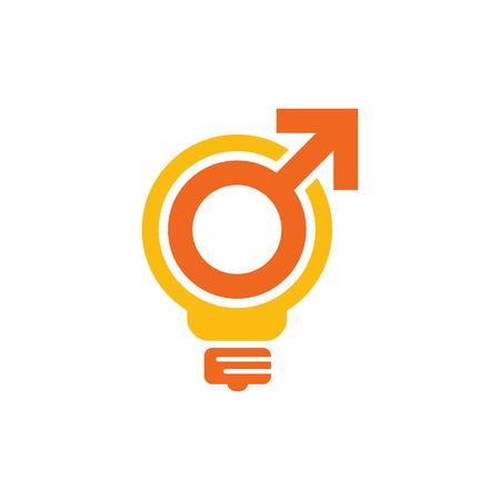 Creative Male Man Logo Icon Design