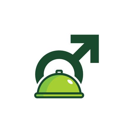 Menu Male Man Logo Icon Design