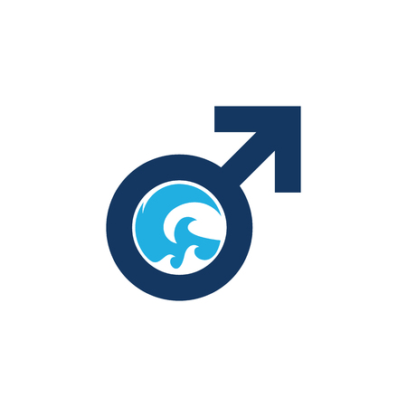 Wave Male Man Logo Icon Design