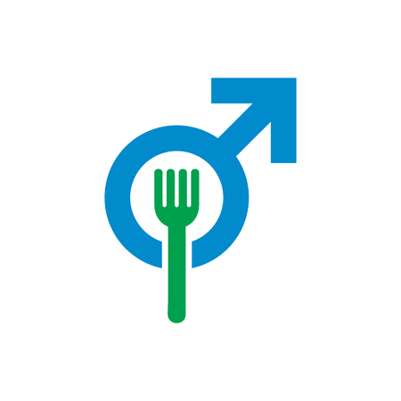 Food Male Man Logo Icon Design