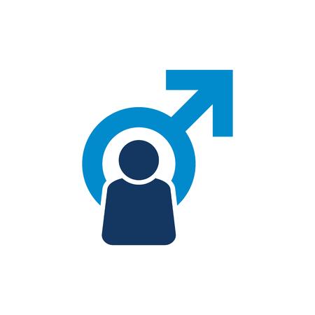 People Male Man Logo Icon Design Illustration