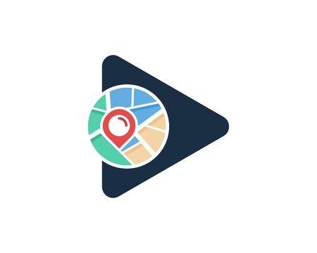 Entertainment Map Logo Icon Design