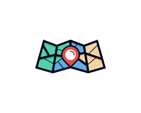 Map Logo Icon Design