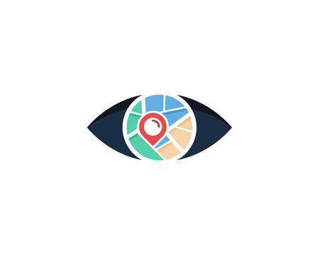 Look Map Logo Icon Design