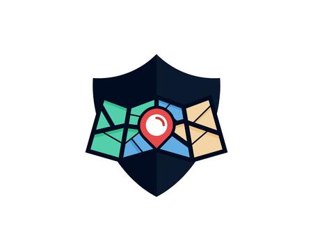 Privacy Map Logo Icon Design