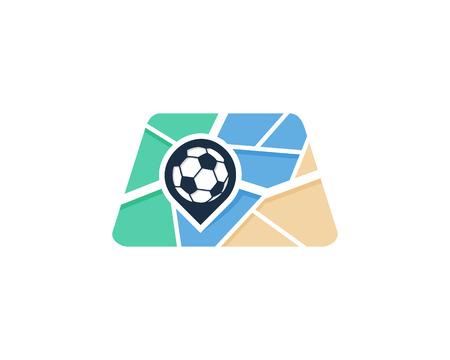 Soccer Map Logo Icon Design