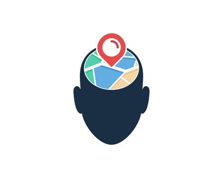 Face Map Logo Icon Design Archivio Fotografico - 101701300
