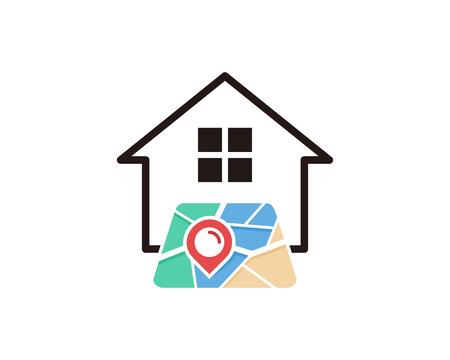 Estate Map Logo Icon Design