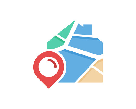 Property Map Logo Icon Design