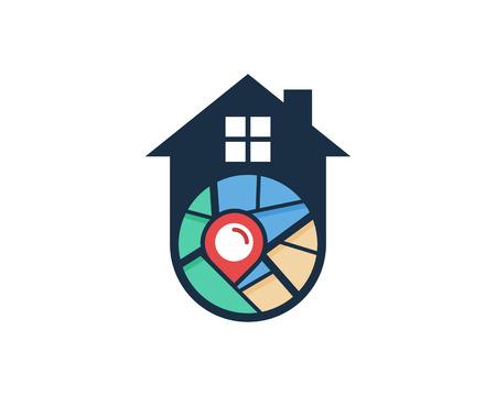 Home Map Logo Icon Design