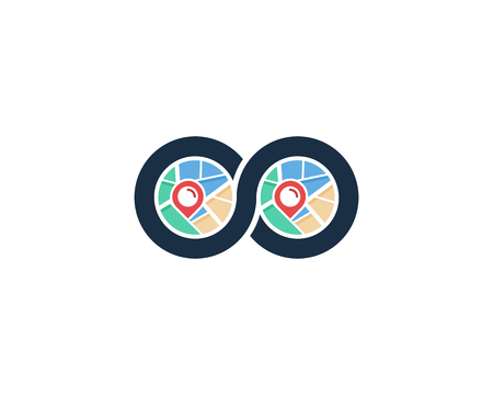 Infinity Map Logo Icon Design