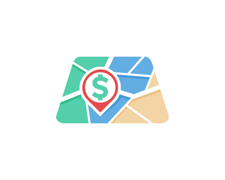 Money Map Logo Icon Design