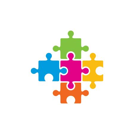 Puzzle Medical Logo Icon Design 일러스트