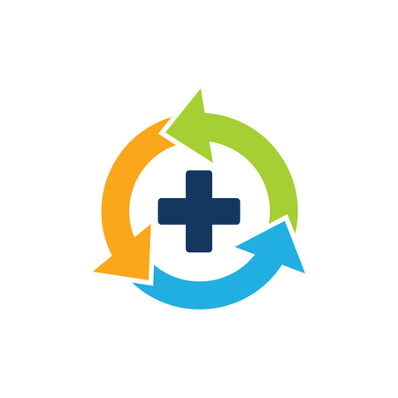 Recycle Medical Logo Icon Design Illustration
