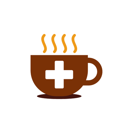Coffee Medical Logo Icon Design Banco de Imagens - 101701785