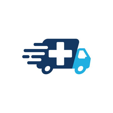 Delivery Medical Logo Icon Design