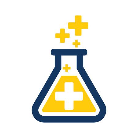 Research Medical Logo Icon Design Illustration