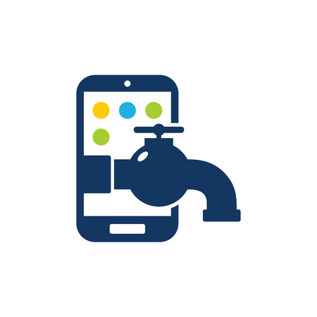 Plumbing Mobile Phone Logo Icon Design