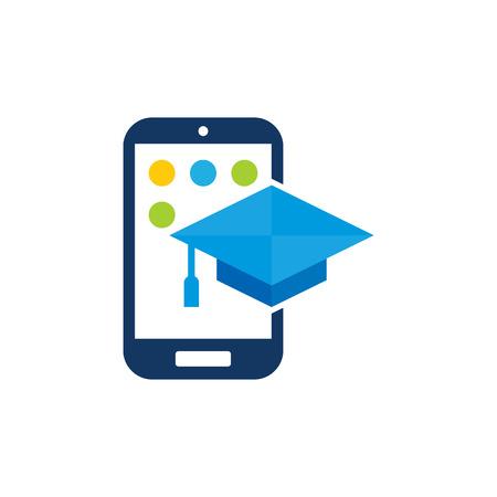 Education Mobile Phone Logo Icon Design