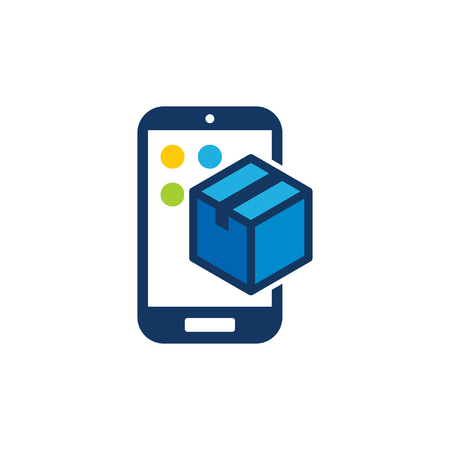 Box Mobile Phone Logo Icon Design