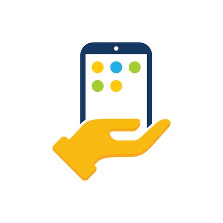 Care Mobile Phone Logo Icon Design