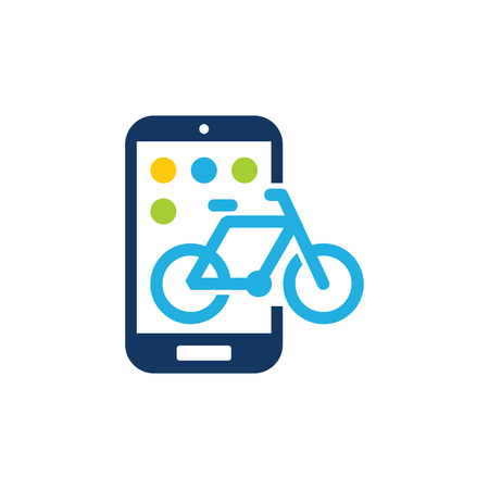 Bike Mobile Phone Logo Icon Design