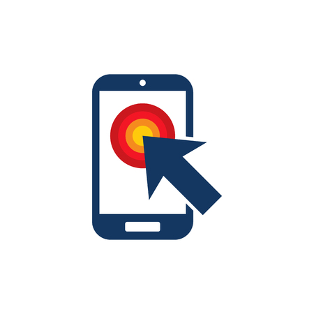 Touch Mobile Phone Logo Icon Design Ilustrace