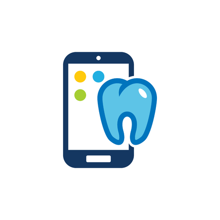Dental Mobile Phone Logo Icon Design
