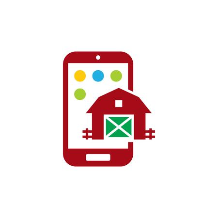 Barn Mobile Phone Logo Icon Design