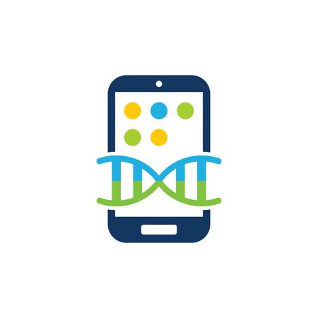 Dna Mobile Phone Logo Icon Design