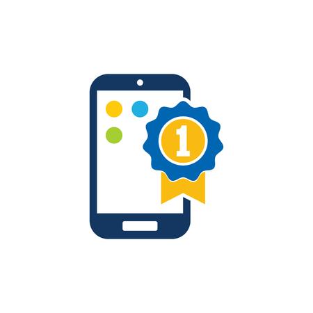 Best Mobile Phone Logo Icon Design Illustration