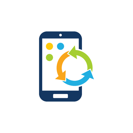 Recycle Mobile Phone Logo Icon Design Ilustracja