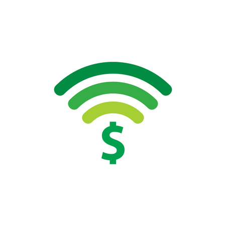 Wifi Money Logo Icon Design