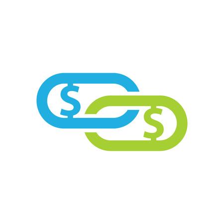 Connect Money Logo Icon Design Illustration