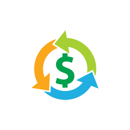 Recycle Money Logo Icon Design