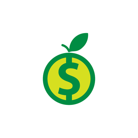Fruit Money Logo Icon Design Ilustrace