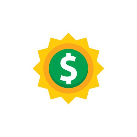 Sun Money Logo Icon Design