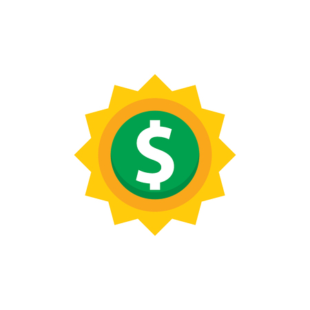 Sun Money Logo Icon Design